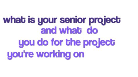 Senior Project with Robert